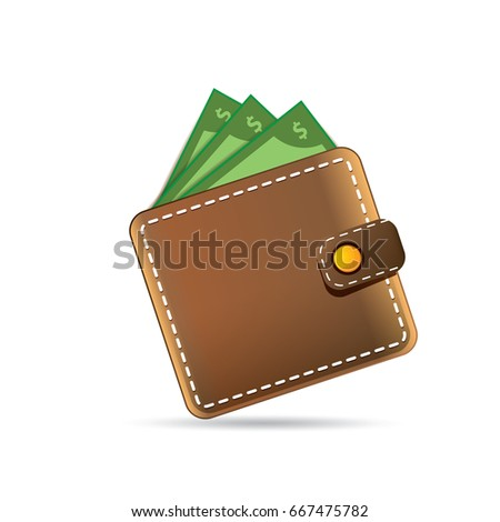 Cash Maakt een reservekopie vector realistisch portemonnee papier Stockfoto © pikepicture