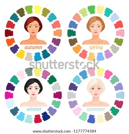 Analiza sezonowy kolor twarz kobiety włosy skóry Zdjęcia stock © adrenalina