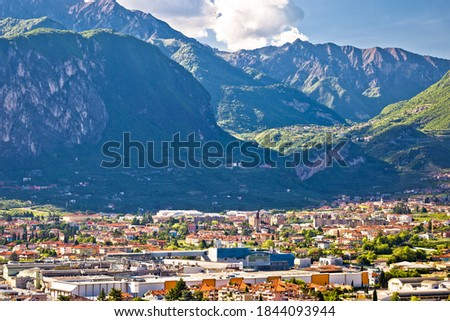 aerial view of riva del garda and italian alps in south tyrol re stock photo © xbrchx