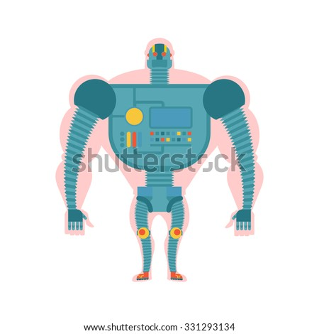 Bio robot structure. Man with  cybernetic exoskeleton. Cyborg hu Stock photo © popaukropa