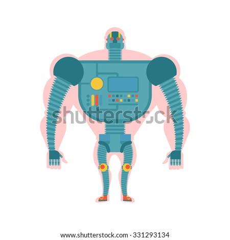 robot · artes · mecanismo · 3d · robots · metal - foto stock © popaukropa