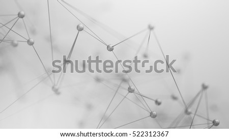 Abstract 3d illustration of chaotic net. Background plexus with dots Stock photo © anadmist