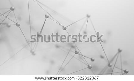abstrato · ilustração · 3d · caótico · com · fundo · rede - foto stock © anadmist