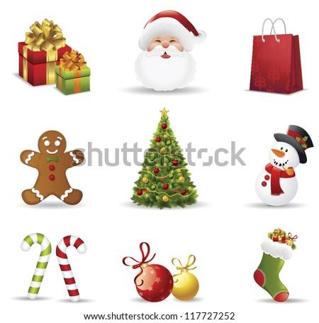 Noel stoklama hediyeler ayarlamak şeker Stok fotoğraf © popaukropa