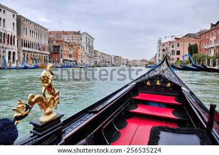 Venice, beautiful romantic italian city on sea with great canal and gondolas Stock photo © artfotodima