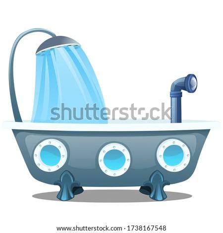 Podwodny kąpieli piana łazienka wektora wody Zdjęcia stock © MaryValery