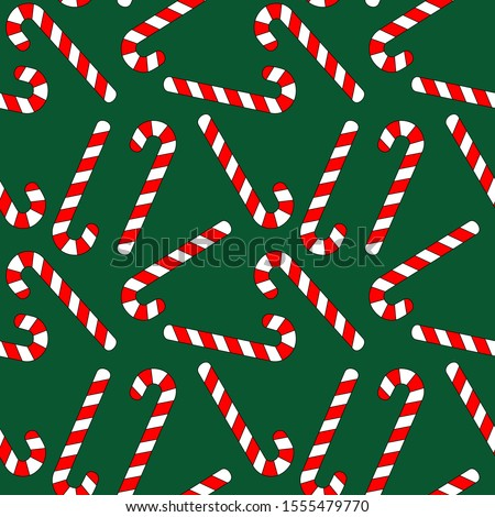 Christmas tree and Christmas Peppermint lollipop seamless patter Stock photo © popaukropa