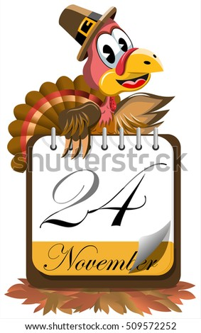 Rajz naptár oldal Törökország zarándok kalap Stock fotó © hittoon