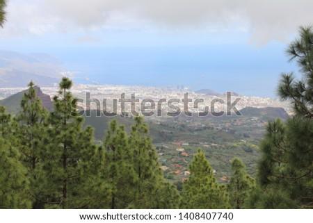 Hoogte stad tenerife luchtfoto Stockfoto © vlad_star