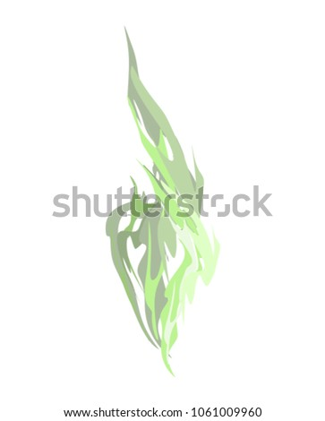 Green smoke isolated. acid evaporation Chemical. Vector illustra Stock photo © popaukropa