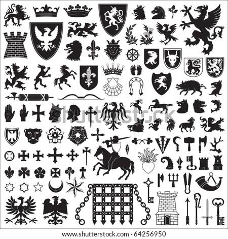 címer · kabát · karok · áll · lábak · ló - stock fotó © maryvalery