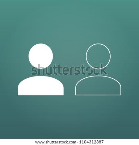 Felhasználó lineáris ikon emberi személy szimbólum Stock fotó © kyryloff