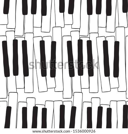 グランドピアノ · クラシカル · スケッチ · 黒 · 抽象的な · ブラシ - ストックフォト © maryvalery