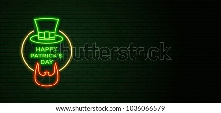 Día verde pared de ladrillo irlandés barba Foto stock © popaukropa