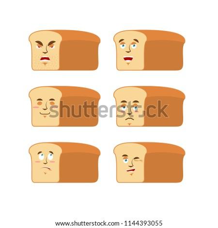 Brood emotie ingesteld agressief goede gezicht Stockfoto © popaukropa