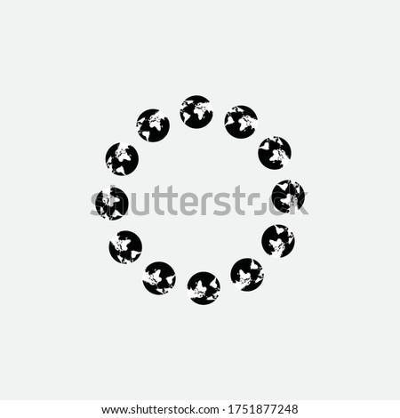 világtérkép · halftone · szett · négy · különböző · tökéletes - stock fotó © iaroslava