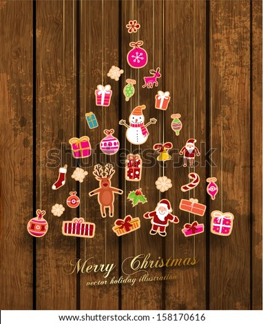 幸せ おもちゃ サンタクロース 装飾された ストックフォト © Lady-Luck