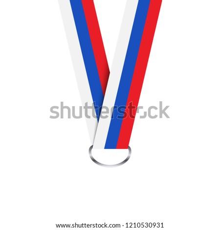 Ruban médaille tricolor simple isolé Photo stock © kurkalukas