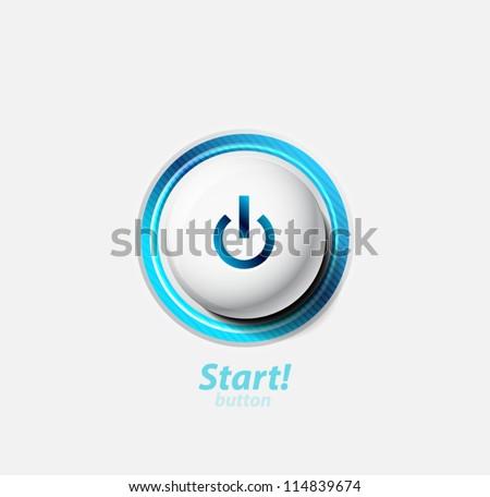 Técnica azul botón diseno teléfono Foto stock © Linetale