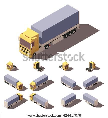 Commercial Truck. Isometric Vector Illustration in Four Dimensions. Stock photo © tashatuvango