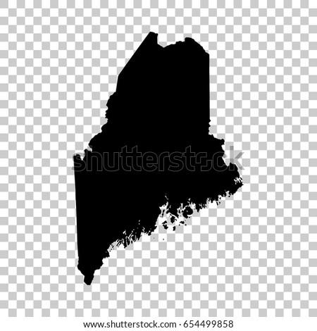 Maine térkép izolált átlátszó fekete terv Stock fotó © kyryloff