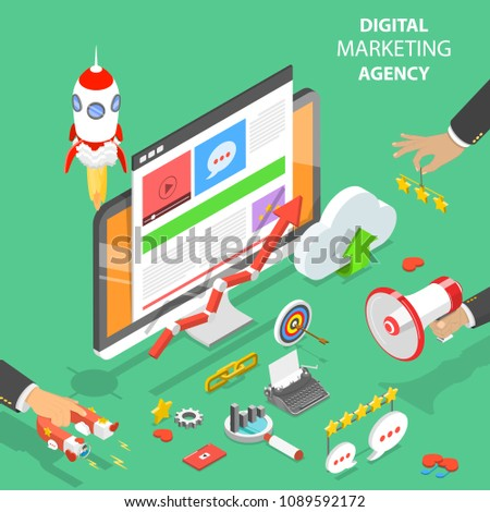 isometric flat vector concept of idea search searching for new ideas solutions stock photo © tarikvision
