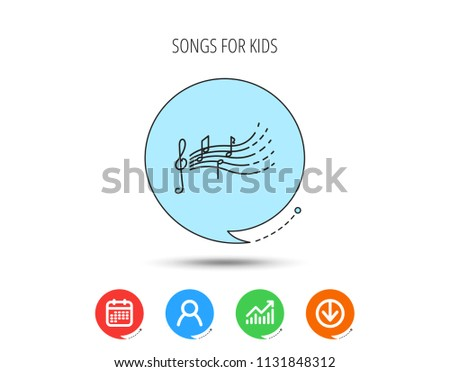 Illustration of a chat bubble icon with a g clef and music notes Stock photo © kyryloff
