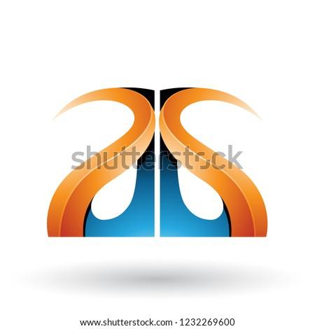 Kék narancs fényes g betű vektor izolált Stock fotó © cidepix