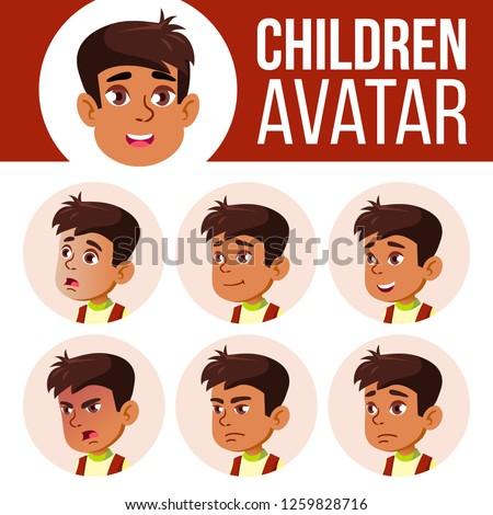 Arab muszlim fiú avatar szett gyerek Stock fotó © pikepicture
