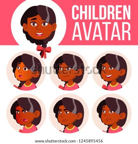 Menina avatar conjunto criança vetor jardim de infância Foto stock © pikepicture