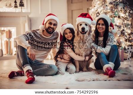 sevimli · dostça · genç · kadın · Noel - stok fotoğraf © lopolo