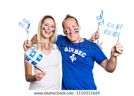 Woman celebrates the national holiday in studio white background Stock photo © Lopolo