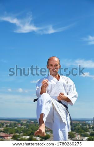 volwassen · atleet · formeel · karate · oefening - stockfoto © Andreyfire
