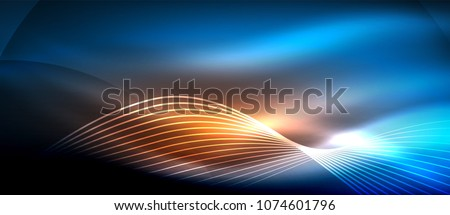 Orange vector background curve orange lines on dark space overlap layer graphic for text message mod Stock photo © MarySan