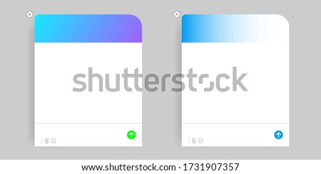 Chatbot virtual assistant via messaging concept banner header. Stock photo © RAStudio