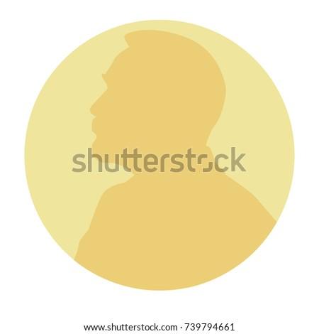 Stylisé médaille silhouette style design fond Photo stock © Arkadivna