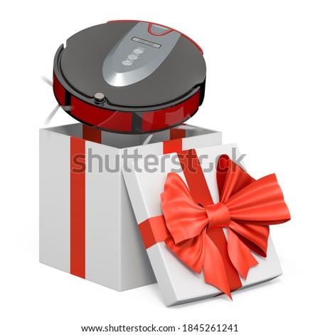 Aspirador de pó caixa branco isolado 3D ilustração 3d Foto stock © ISerg