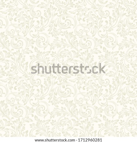 Rococo pattern texture Vector. Floral ornament decoration. Royal ements. Victorian engraved retro de Stock photo © frimufilms