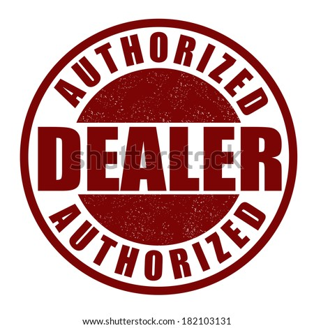 authorized dealer or retailer certification rubber stamp over w stock photo © olivier_le_moal