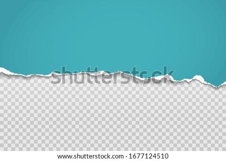 Horizontal papel rasgado borda papel tiras fundo Foto stock © olehsvetiukha