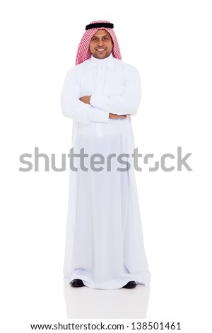 full length image of cheerful arabic businessman 30s in formal s stock photo © deandrobot
