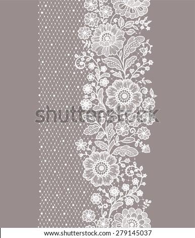 Kwiatowy retro koronki wektora wzór walentynki Zdjęcia stock © RedKoala