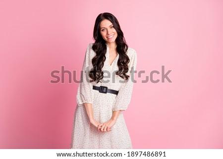 Photo tendre femme cheveux longs robe blanche Photo stock © deandrobot