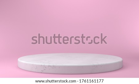 White Round Podium Pedestal Scene With Pink Background And Color Stock photo © barbaliss