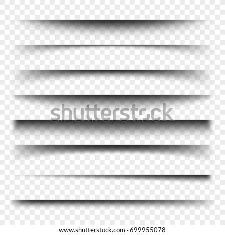 transparent realistic paper shadow effect set web banner shade for advertising and promotional mes stock photo © olehsvetiukha