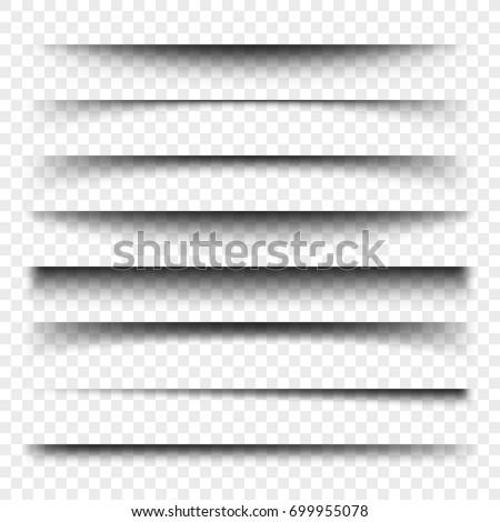 realista · transparente · sombra · efecto · establecer · papel - foto stock © olehsvetiukha