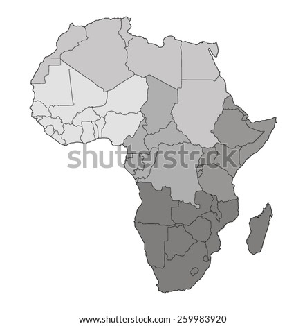 Mapa do mundo África região central Congo Nigéria Foto stock © Glasaigh