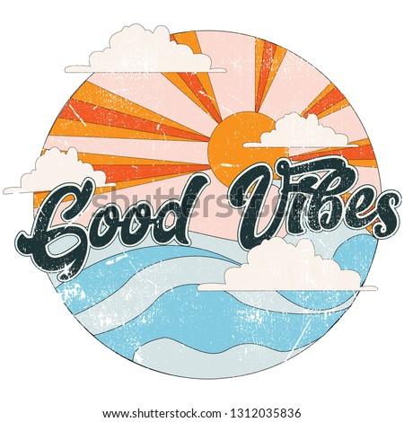 Vintage surfowania wydruku projektu tshirt inny Zdjęcia stock © JeksonGraphics