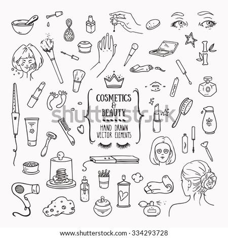manikűrös · kézzel · rajzolt · vektor · firkák · illusztráció · manikűr - stock fotó © balabolka