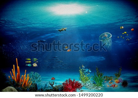 sticker · ingesteld · schattige · dieren · Blauw · illustratie · achtergrond - stockfoto © marish